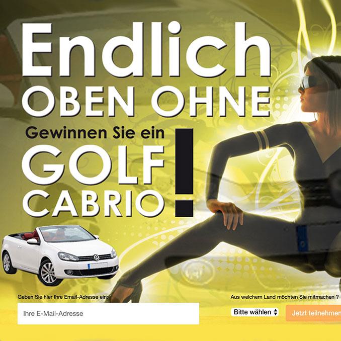 VW Golf Cabrio Gewinnspiel