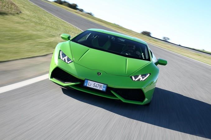 Foto Lamborghini Huracán Coupé in grün