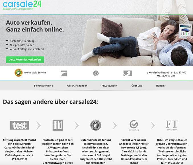 Carsales24 Startseite