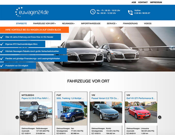 Euwagen24.de Screenshot