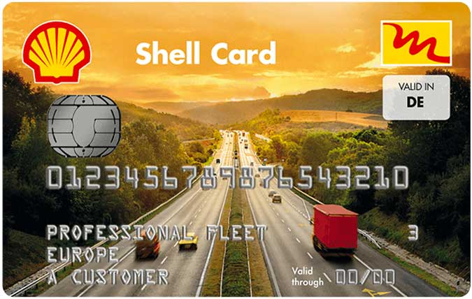 Bild der Shell Card Professional Fleet