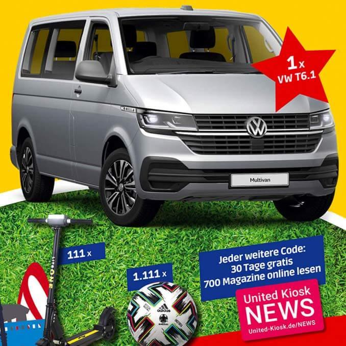 Pickup VW Multivan Gewinnspiel