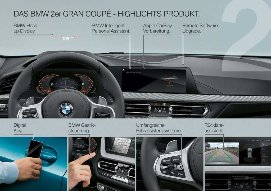 BMW 2er Interieur Highlights
