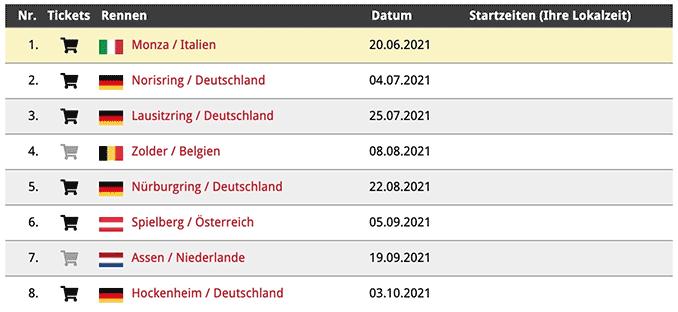 DTM Renn-Kalender 2021